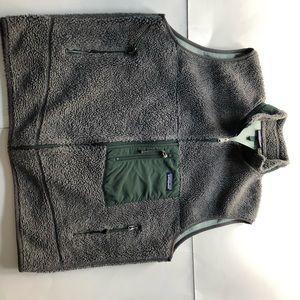 Patagonia grey fleece vest